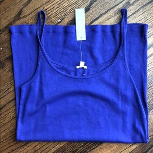 JCrew purple perfect fit tank top